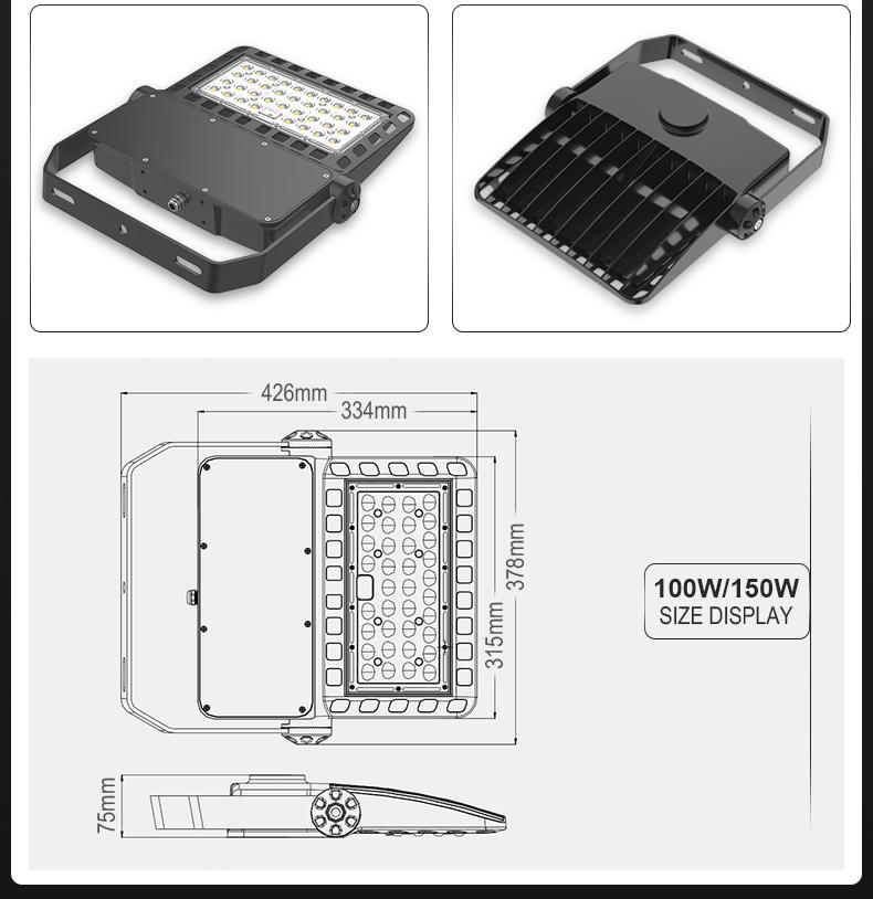 New Die-casting Module LED Flood Light   Basketball Court Light Tennis Court Light Parking Lot Light FL-TGD-AEH2