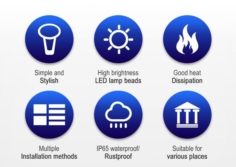 LED garden light 100W for community park villa lighting