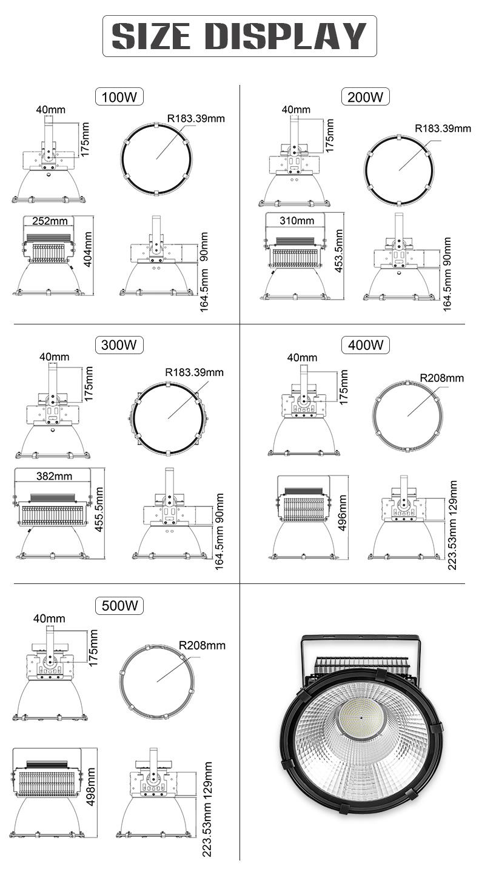 LED tower crane lamp engineering construction search light 200w 300w 400w 500w led flood light FL-TGD-GF2