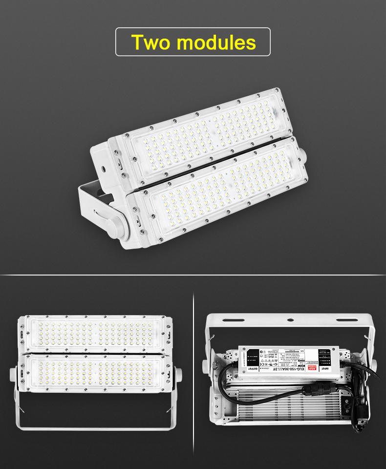 High lumen ip65 waterproof energy saving smd 150w module tunnel led flood light outdoor
