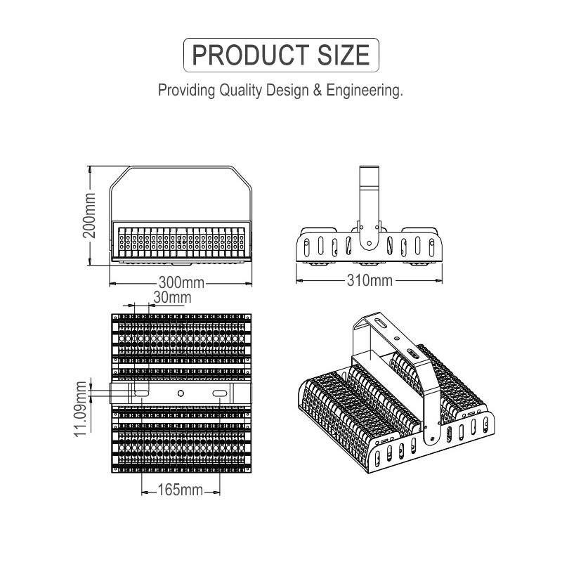 factory directly sale led tunnel light, 50w to 200w economic type high lumen led tunnel light FL-SDD-BZ1