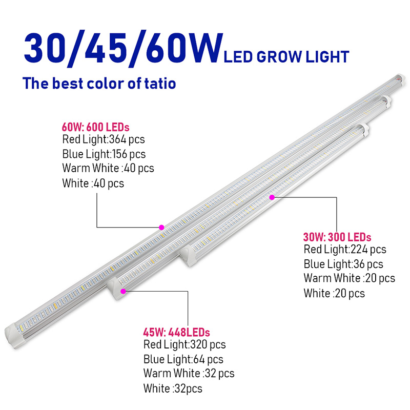 Wholesale led grow light Aluminum tube led linear grow light full spectrum led grow light for plant Indoor Quantum Hydroponic FL-ZWD-TB1