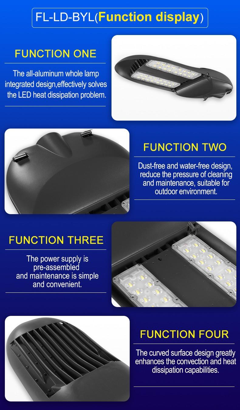 Aluminium Separated waterproof ip65 outdoor garden lamp100 watt LED Street Light FL-LD-BYL