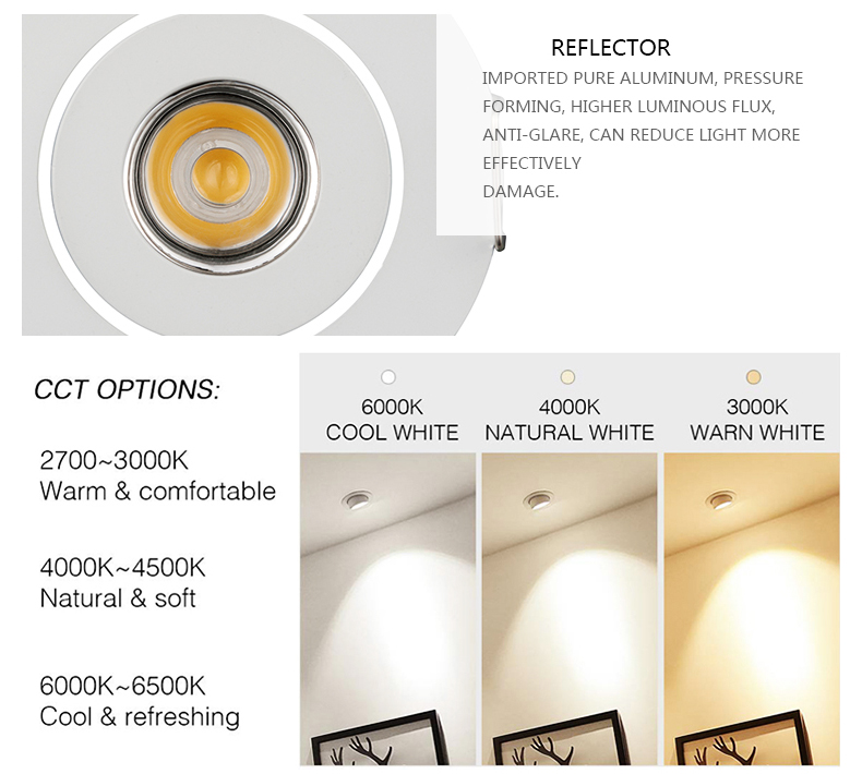 Hotel 3W Adjustable Recessed Mounted Cabinet Light Ceiling Remote Controlling dimmable Mini IP44 LED Downlight