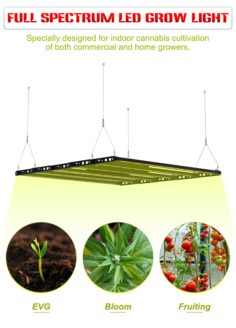 2021 best full spectrum led grow light 800W growlight for indoor growing COMMERCIAL 6-8Bars