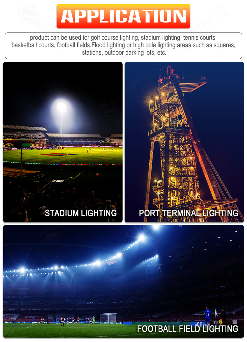 1500w 1200watt Indoor Outdoor Stadium light Volleyball Badminton Tennis Court Football Stadium LED Flood Lighting