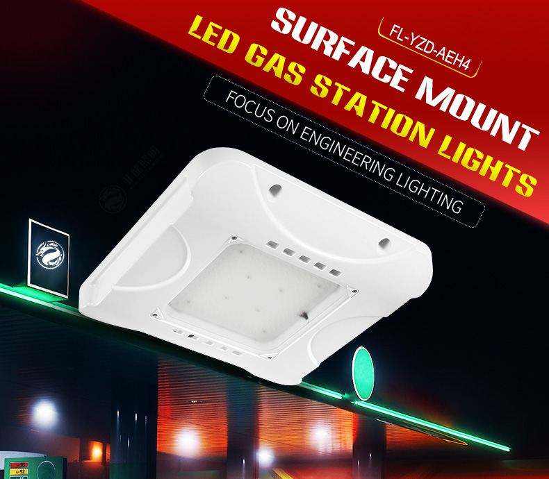 Cree Led Canopy Lights 150W Surface Mounted 100w 200W Outdoor lighting for petrol gas stations ceiling light night philips