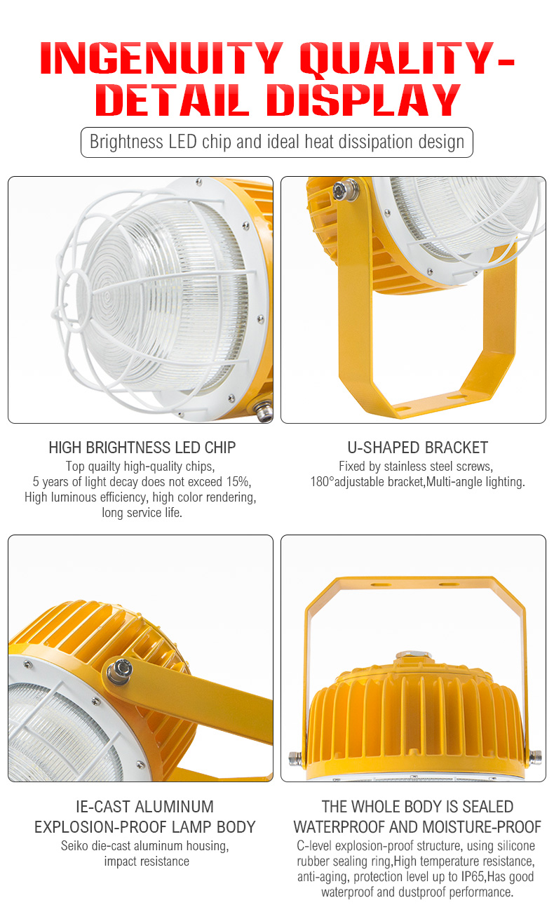 New round die-cast aluminum LED High Bay Explosion-proof Lamp Sales 60w 120w Factory Working Lighting Gas Station Lighting for warehouse/coal mine/basement