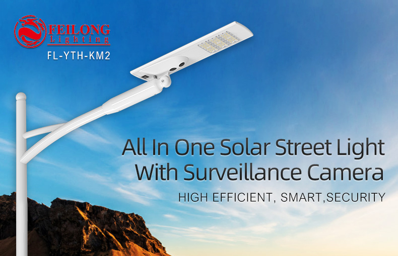 Wholesale All in one solar light 60w 80w 100w 120w 300 watts  ip65 4G WIFI lifepo4 battery and control outdoor waterproof motion sensor smart solar street lamp with CCTV camera for highway Pathway road pole lights 5 years
