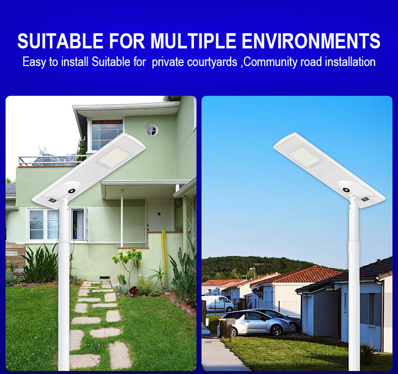 Solar Street Lamps High Lumen Induction Power Waterproof Integrated Modern Outdoor Luminaria Road Led  Solar private courtyards Lights