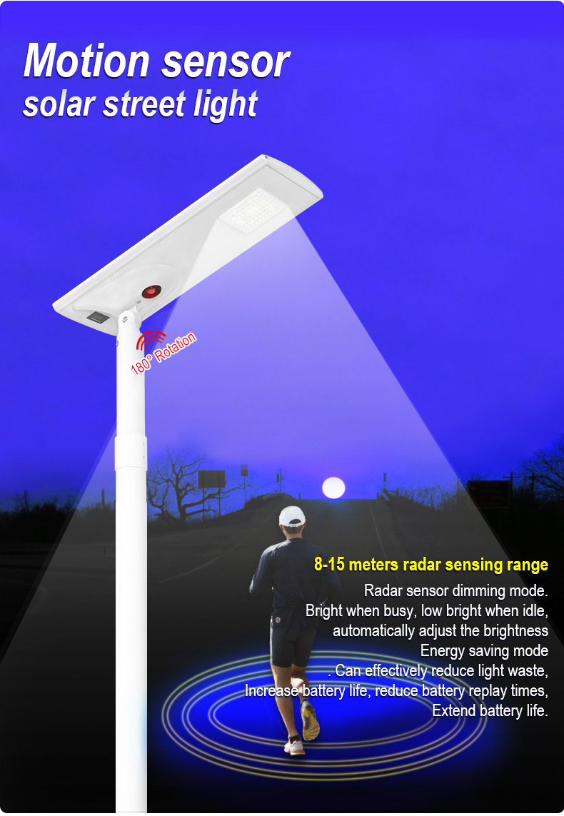 High Lumen Waterproof Ip65 Outdoor Smd 5w  All In One Integrated Led Solar Street Light for Courtyard lighting