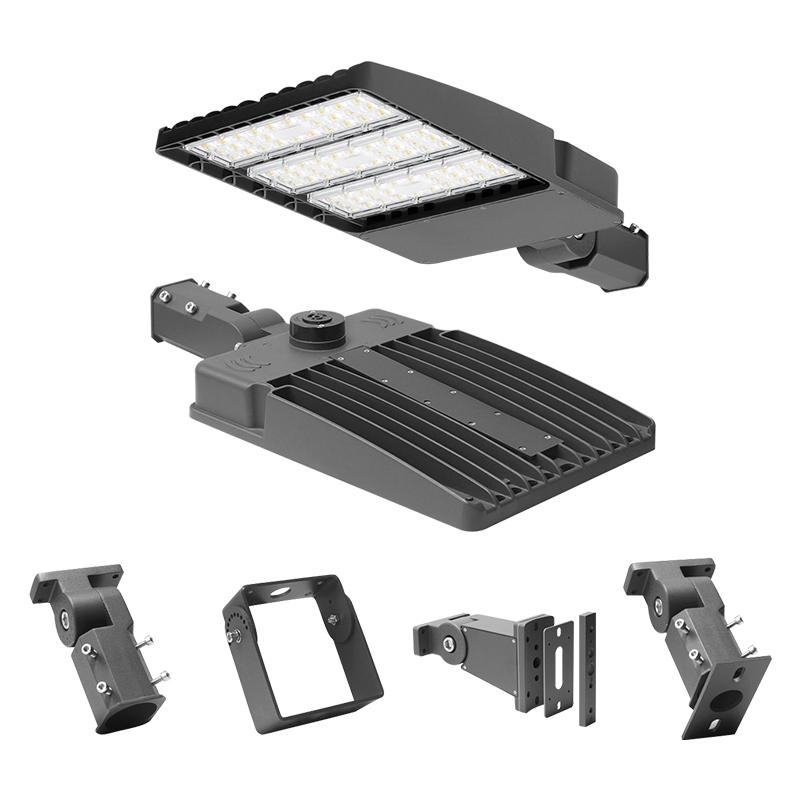 LED shoe box lighting street light microwave motion sensor, multiple dimming functions 100W-300W