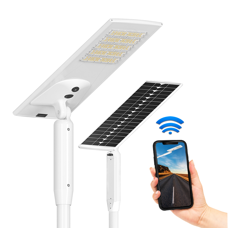 Wholesale outdoor 4g wifi motion sensor pashway integrated 80w smart LED all in one solar street light with CCTV camera for yard pathway walkway courtyard lighting
